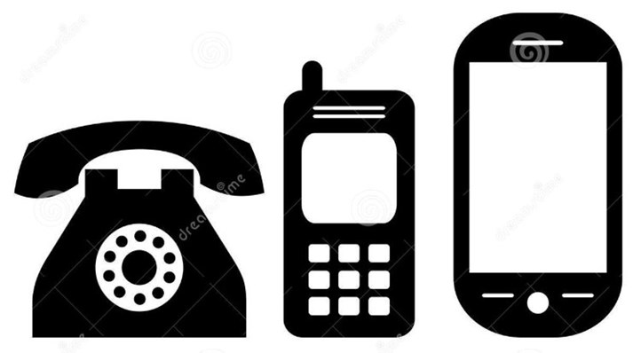 phone ringing vector